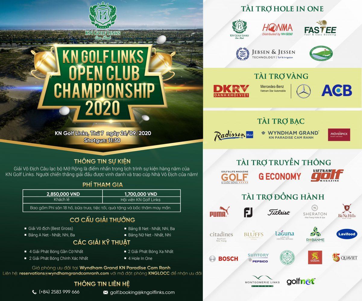Tái khởi động Giải vô địch CLB KN Golf Links Open 2020